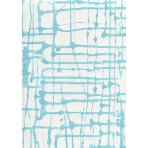 AC990-04 TWILL Turquoise on White Quadrille Fabric