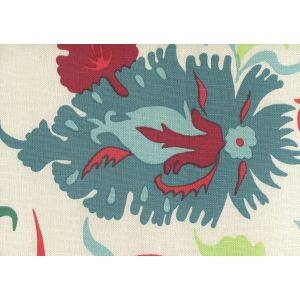 306225W UZBEK Multi Red Greens Blues Quadrille Wallpaper