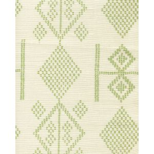AC890-06 VACANCES Jungle Green on Tint Quadrille Fabric