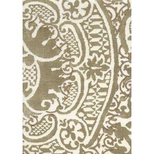 302210F-M VENETO Gold Metallic on Tint Quadrille Fabric