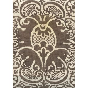 302207F VENETO Brown on Tint Quadrille Fabric