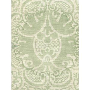 302200B-04 VENETO NEUTRAL Soft French Green on Tint Quadrille Fabric