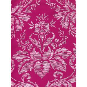 302310V-05VV VICTORIA ON VENETIAN VELVET White on Hot Pink Quadrille Fabric