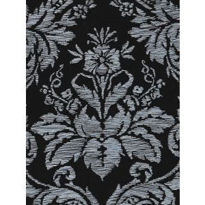 302310V-06VV VICTORIA ON VENETIAN VELVET White on Midnight Blue Quadrille Fabric