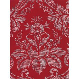 302310V-04VV VICTORIA ON VENETIAN VELVET White on Orange Quadrille Fabric