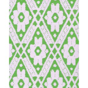 305052F VIENNESE Jungle Green on Tint Quadrille Fabric