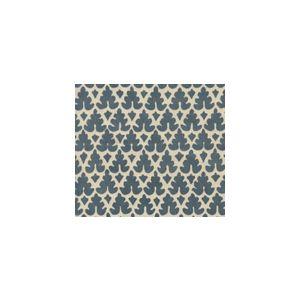 304045FVSUN VOLPI Slates Blue on Vellum Quadrille Fabric