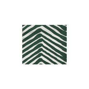 AC302-51SUN ZIG ZAG Forest Green on White  Quadrille Fabric