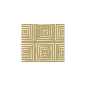 6175-23 ZIGGURAT REVERSE Gold Metallic on Tint Custom Only Quadrille Fabric