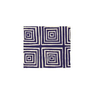 6175-24 ZIGGURAT REVERSE Navy on Tint Custom Only Quadrille Fabric