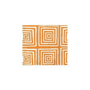 6175-22 ZIGGURAT REVERSE Orange on Tint Custom Only Quadrille Fabric