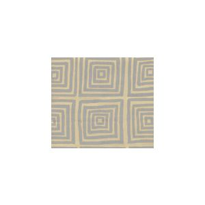6170-10 ZIGGURAT Silver Metallic on Tan Custom Only Quadrille Fabric