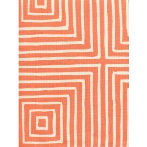 8055-04 ZIGGURAT REVERSE LARGE SCALE Orange on Tint Quadrille Fabric