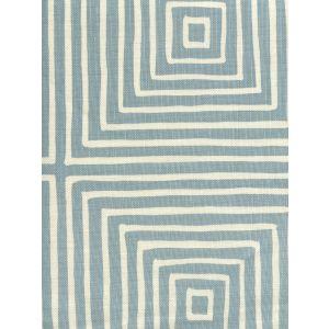 8055-02 ZIGGURAT REVERSE LARGE SCALE Windsor Blue on Tint Quadrille Fabric