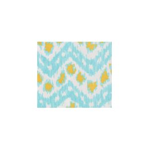 7320SUN-CUSTTU ZIZI HORIZONTAL Custom Turquoise with Yellow Quadrille Fabric