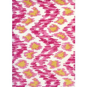 7335V-02T ZIZI VERTICAL Pink Light Pink Gold on Tint Quadrille Fabric