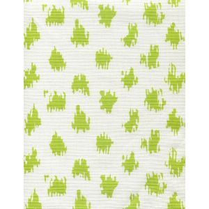 7340-05 ZIZI SPOT Chartreuse on White Quadrille Fabric