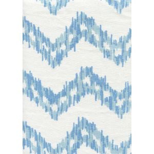 7330-00W ZIZI ZIG ZAG Sky Blues on White Quadrille Fabric