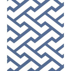 6340-18AWP AGA New Navy On Almost White Quadrille Wallpaper