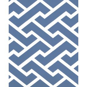6345-18WP AGA REVERSE New Navy On White Quadrille Wallpaper