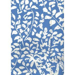 2035-40AWP ARBRE DE MATISSE REVERSE China Blue On Almost White Quadrille Wallpaper