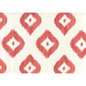9040-07WP BALI DIAMOND Coral On Almost White Quadrille Wallpaper