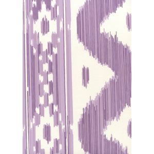 2020-05AWP BALI HAI Purple On Almost White Quadrille Wallpaper