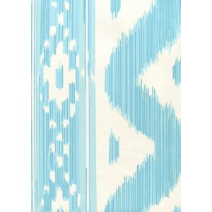 2020-04AWP BALI HAI Turquoise On Almost White Quadrille Wallpaper