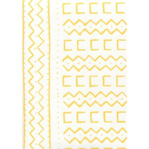 AP980-04 BEAU RIVAGE Yellow On White Quadrille Wallpaper