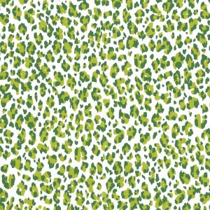305081AWP BONAPARTE Lime Forest Green Almost White Quadrille Wallpaper