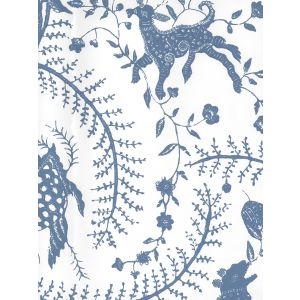 608-210 CIREBON French Blue On White Quadrille Wallpaper