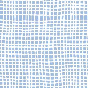 AP403-09 CRISS CROSS Slate Blue On Almost White Quadrille Wallpaper
