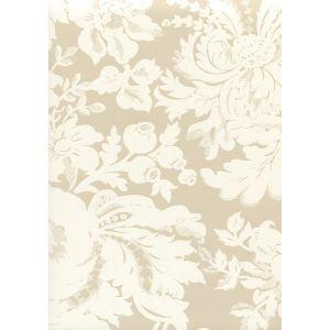 306580W DES GARDES REVERSE Pumice On Off White Quadrille Wallpaper
