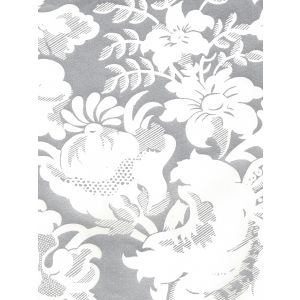 306592W DES GARDES REVERSE Silver Metallic On Off White Quadrille Wallpaper