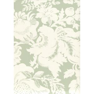 306582W DES GARDES REVERSE Soft French Green On Off White Quadrille Wallpaper