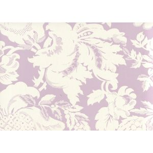 306583W DES GARDES REVERSE Soft Lavender On Off White Quadrille Wallpaper