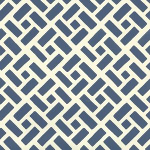 2220-10WP EDO Navy On Off White Quadrille Wallpaper