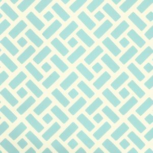 2220-17WP EDO Turquoise On Off White Quadrille Wallpaper
