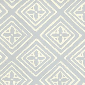 2490-22WP FIORENTINA Windsor Blue Off White Quadrille Wallpaper