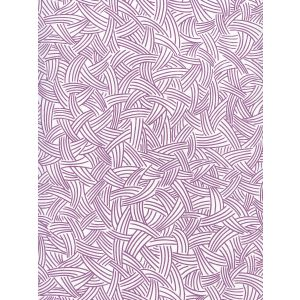 AP404-08 INTERWEAVE Purple On Almost White Quadrille Wallpaper