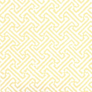 6890WP-06 JAVA JAVA Pale Yellow On White Quadrille Wallpaper