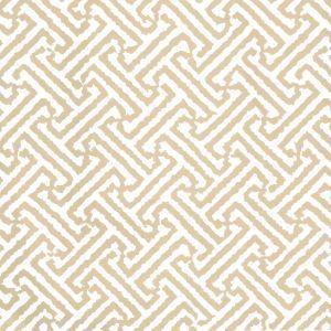 6890WP-15 JAVA JAVA Taupe On White Quadrille Wallpaper