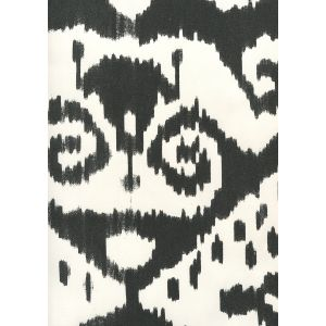 306053W MALAYA Black On Almost White Quadrille Wallpaper