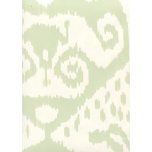 306045W MALAYA Celadon On Almost White Quadrille Wallpaper