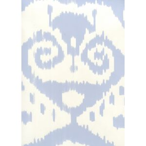 306042W MALAYA Zibby Blue On Almost White Quadrille Wallpaper