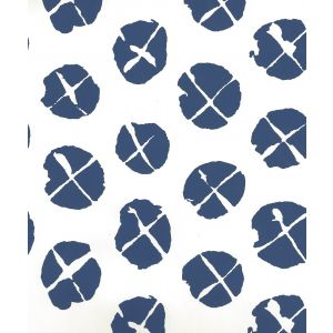 6650WP-09-1000 OBI II Navy On Almost White Quadrille Wallpaper
