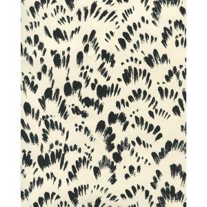 8210WP-10OWP PASSY II Black On Off White Quadrille Wallpaper