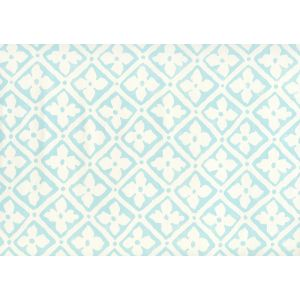 306330W-03 PUCCINI Venice Blue On Almost White Quadrille Wallpaper