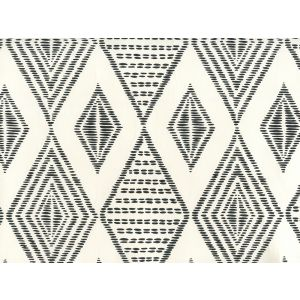 AP850-11 SAFARI EMBROIDERY Black On Almost White Quadrille Wallpaper