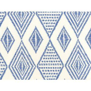 AP850-09 SAFARI EMBROIDERY New Navy On Almost White Quadrille Wallpaper